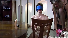 Petite lesbian gets disciplined by her harsh mature mistress
