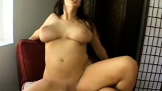 Gorgeous girl with big tits and a juicy ass enjoys some rough sex