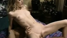 Skinny blonde milf Mariah welcomes a stiff cock in her tight anal hole